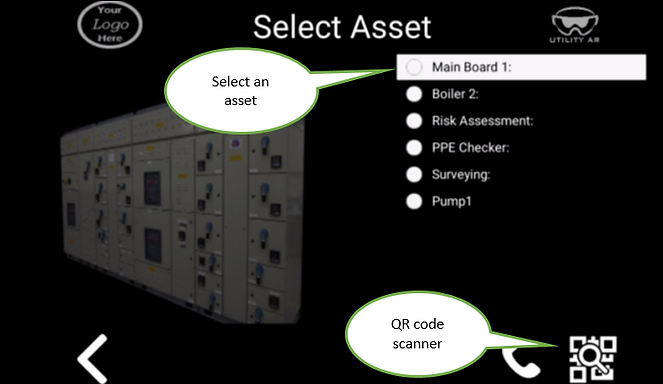 UtilityAR Remote Adviser Procedure Following Asset Selection