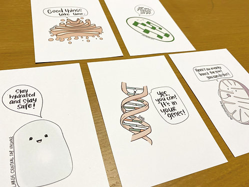 Cell Organelles Series Postcards Bundle