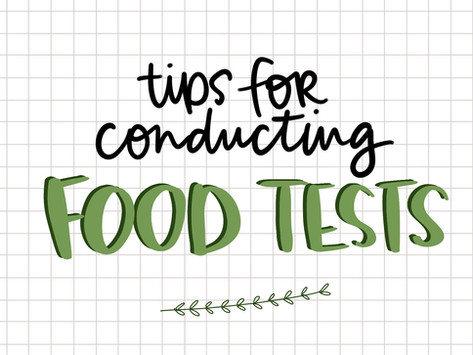 Tips for Conducting Food Tests