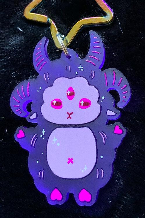 Creepy Sheepy acrylic charm