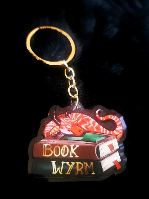 Book Wyrm Clear Acrylic Charm