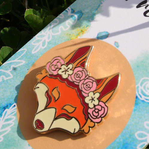 Floral Friends Fox Hard Enamel Pin