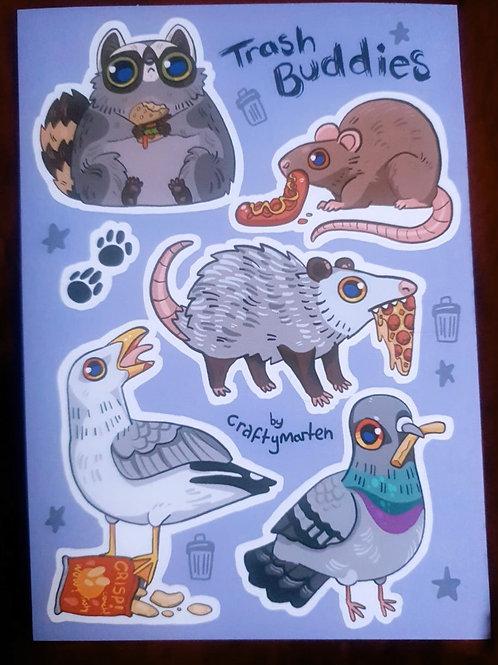 Trash Buddies Sticker Sheet