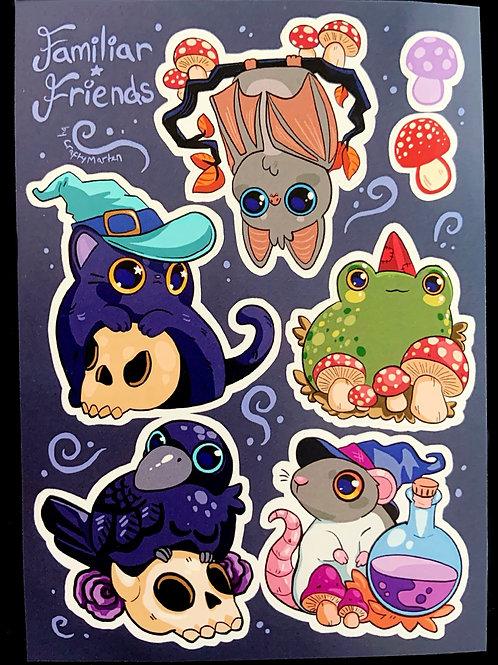Familiar Friends Sticker Sheet