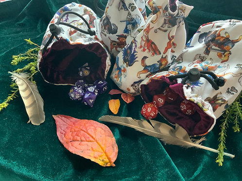 Doggy TTRPG Dice Bags