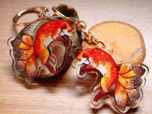 Kitsune Fox Acrylic Keyring
