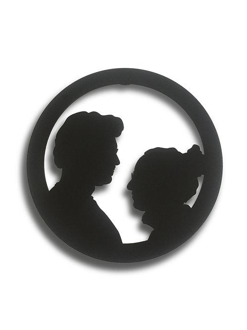 My Silhouette / Faces / Pilli Led Işıklı