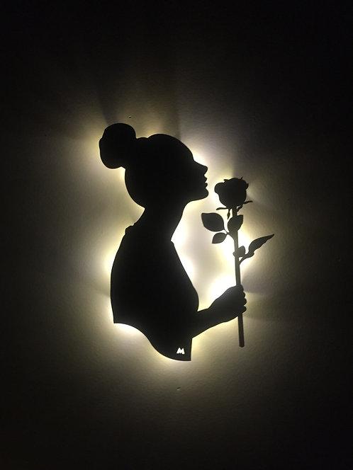 Rose / Pilli Led Işıklı