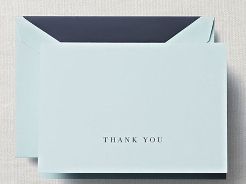 Hand Engraved Beach Glass Thank You Note Stationery/Thank You Notes - CT1329