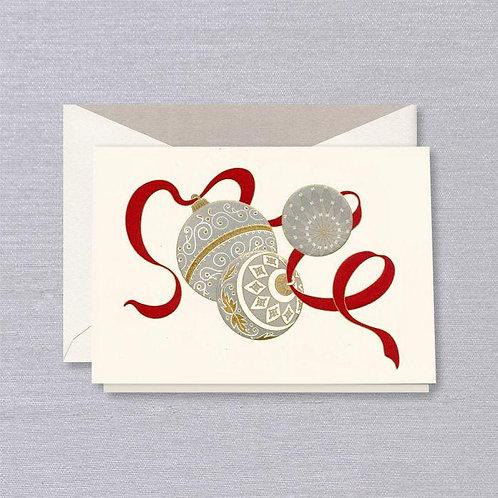 CRANE & CO VERA WANG ENGRAVED ORNAMENTS HOLIDAY GREETING CARD