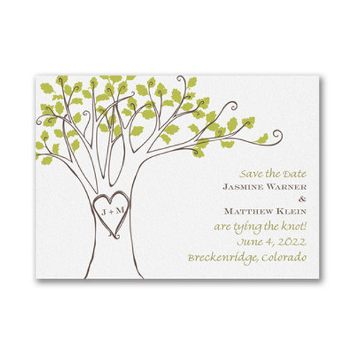 Carlson Craft  Carved Initials - Save the Date