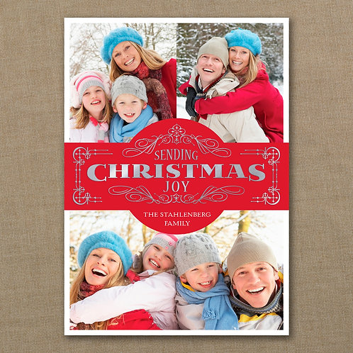 Christmas Joy - Photo Holiday Card YM32251FC
