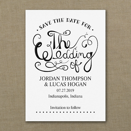 Celebrate the Wedding Save the Date - VZSD37494WH