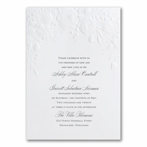 Pearl Floral Invitation -WR13905