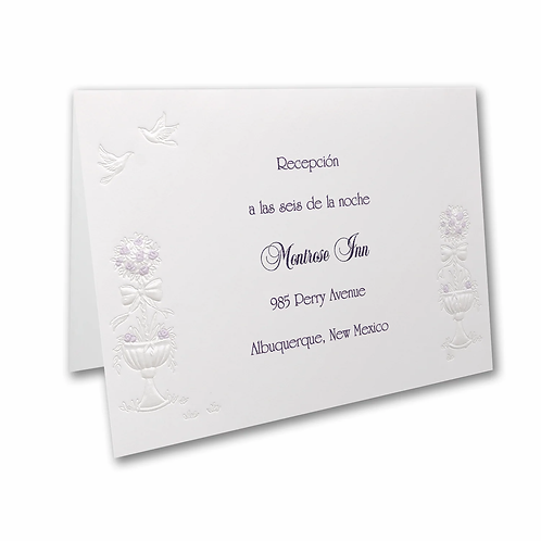Grand Wedding Gazebo Reception Card - HHR2296