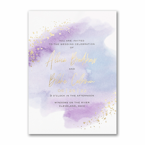 Watercolor Dreams Invitation - TR59185D