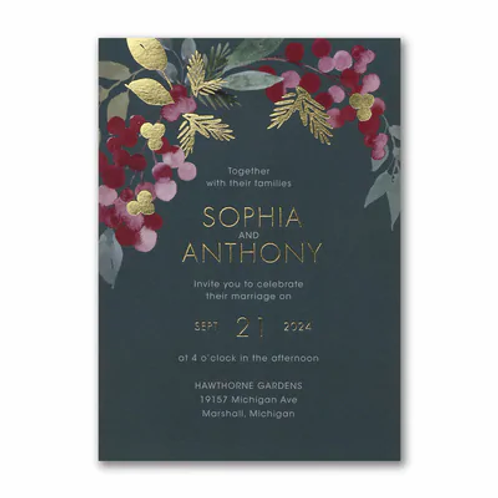 Berry Bunches Invitation -TR61010D