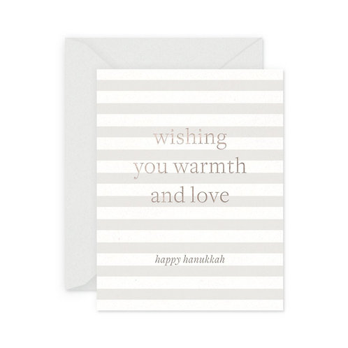 WARMTH AND LOVE HANUKKAH GREETING CARD