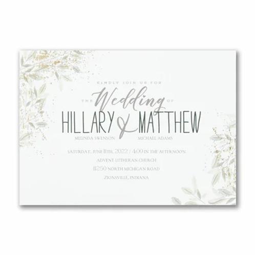 Charming Greenery Invitation -TWS58281
