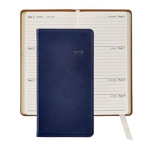 "2021 6"" Pocket Datebook  Traditional Leather - PJ6-TR1"