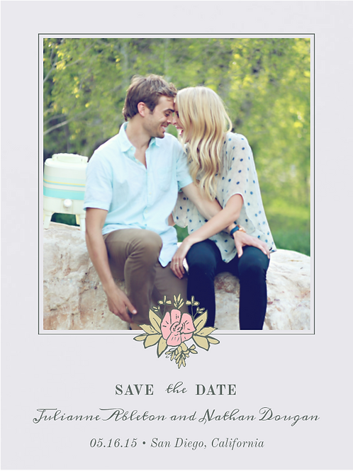 Envelopments - Gorgeous Wreath Save the Date