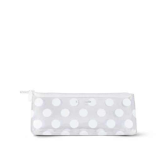 kate spade new york pencil case, white dot