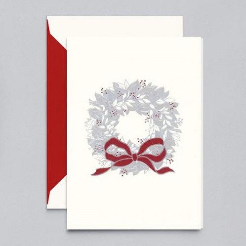 Crane & Co Vera Wang Engraved Wreath Holiday Greeting Cards