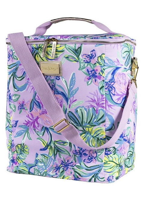 lilly pulitzer wine carrier, mermaid in the shade