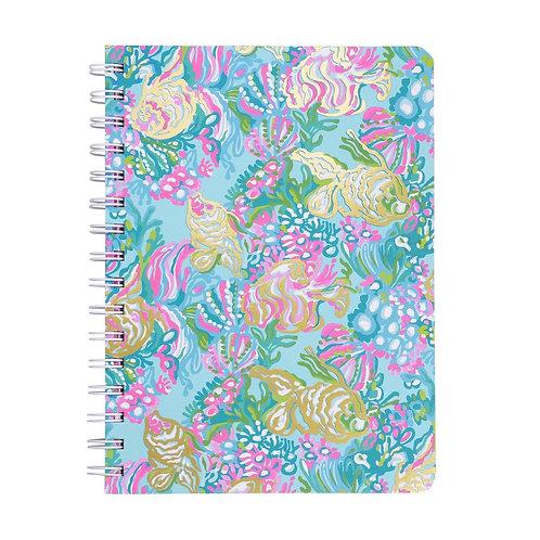 lilly pulitzer mini notebook, aqua la vista