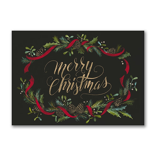 Merry Christmas Pine Cones YM56044FC