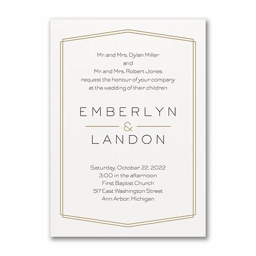 Lovely Elegance Invitation - TWS58162