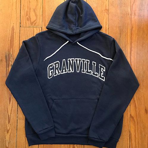 Navy Varsity Letter Granville Hoodie