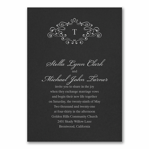 Wedding Bliss Invitation - MM54961BK