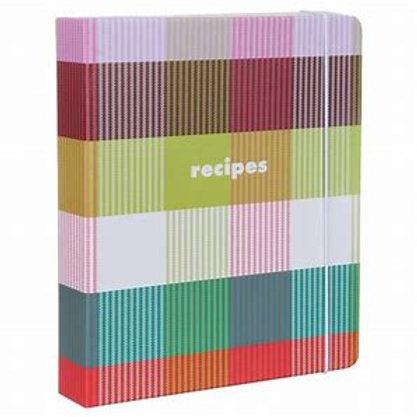 kate spade new york recipe book, rainbow plaid