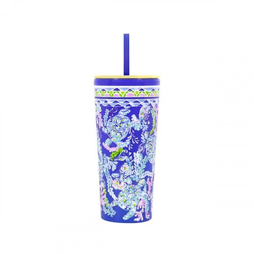 Lilly Pulitzer Turtle Villa Tumbler Save   #323317