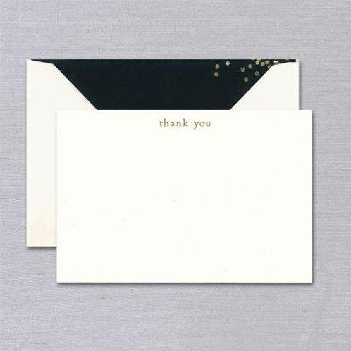 Vera Wang Engraved Confetti Thank You Card