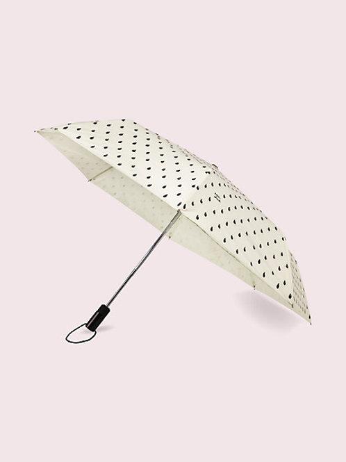 Kate Spade Black and White Rain Check Umbrella