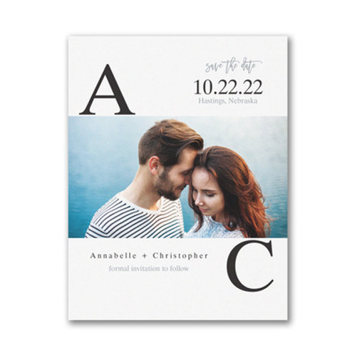 Carlson Craft  Broad Initials - Save the Date - Small