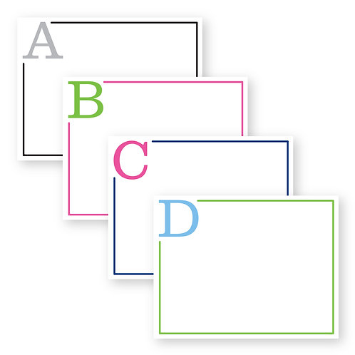 Back to Basics 2.0 Flat Notecards