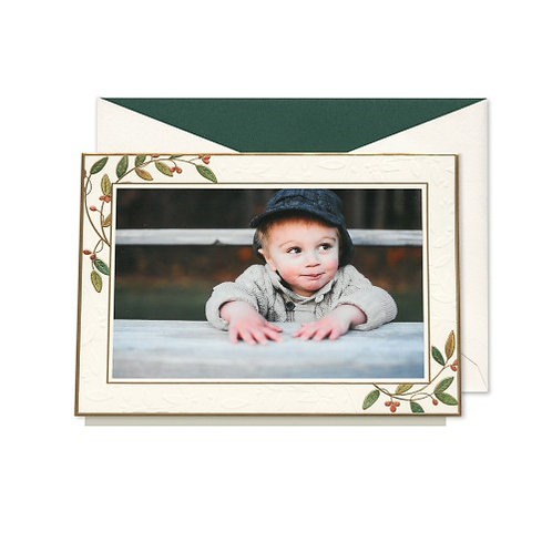 William Arthur Bayberry Leaves Photo Mount Greeting Card