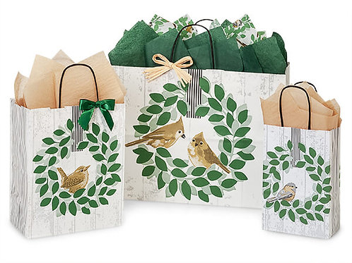 Large Farmhouse Bird Gift Bag and Tissue