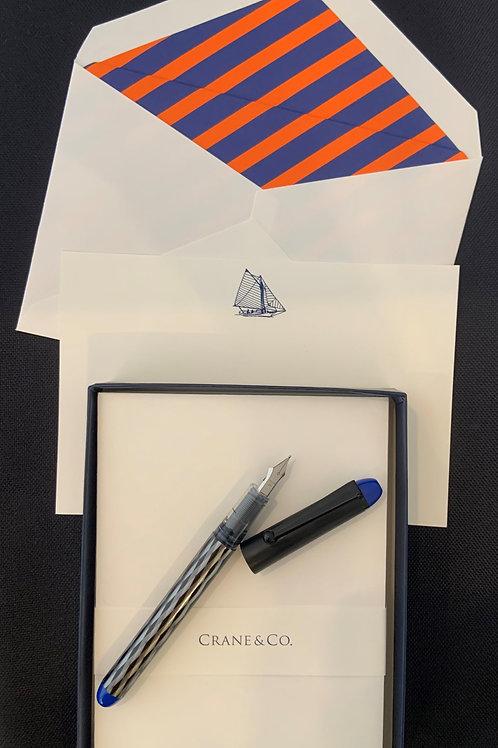 Crane Sailboat Stationery Giftset
