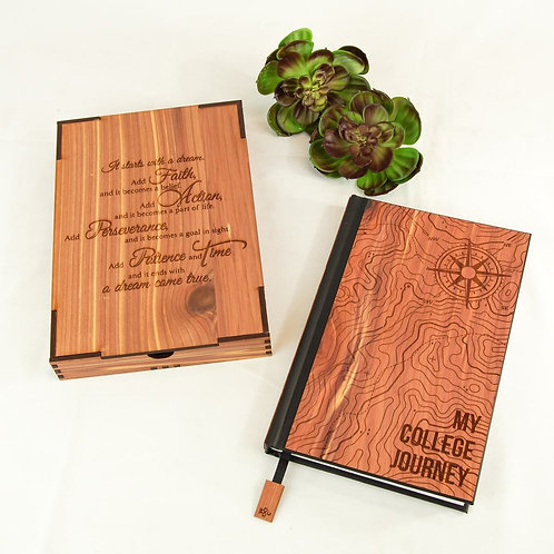 WOODCHUCK MY COLLEGE JOURNEY JOURNAL BOX GIFT SET