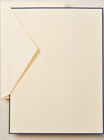 Regent Blue Bordered Half Sheet Stationery