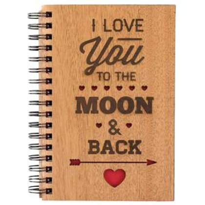 Love you to the Moon and Back Spiral Journal