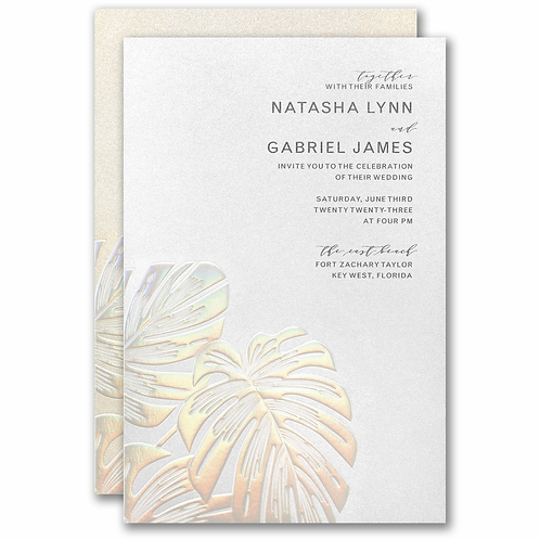 Tropical Iridescence Invitation - CL59511