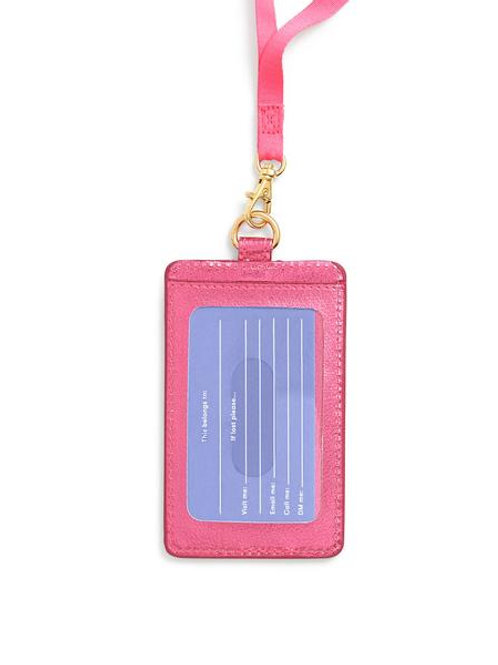 Keep It Close Card Case - Metallic Pink