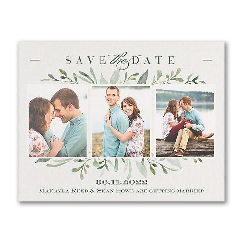 Carlson Craft Watercolor Greenery - Save the Date