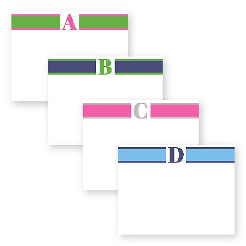 Statement Striped Flat Notecards