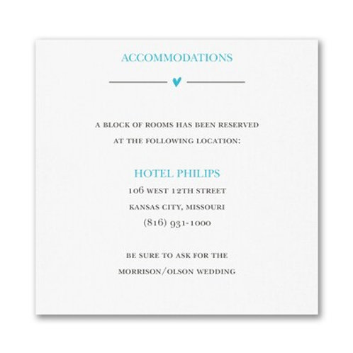 Wedding Whimsy Accommodation Card - FBAC56994